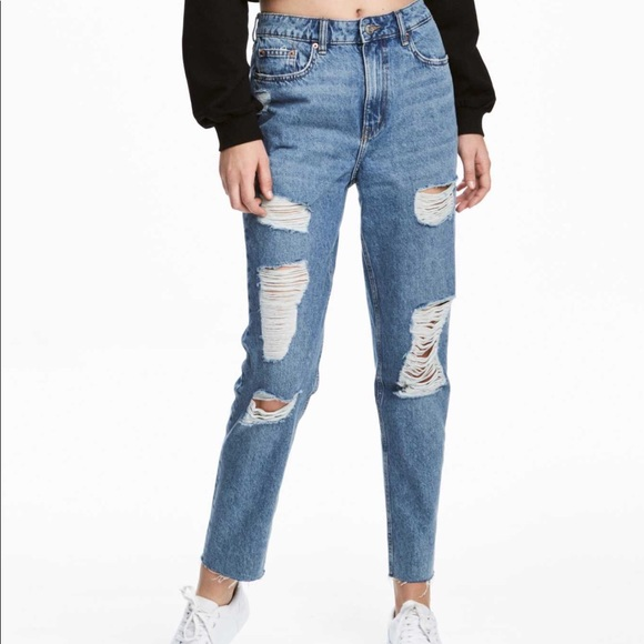 100% authenticated good quality wholesale 👩Trashed Mom Jeans!👖